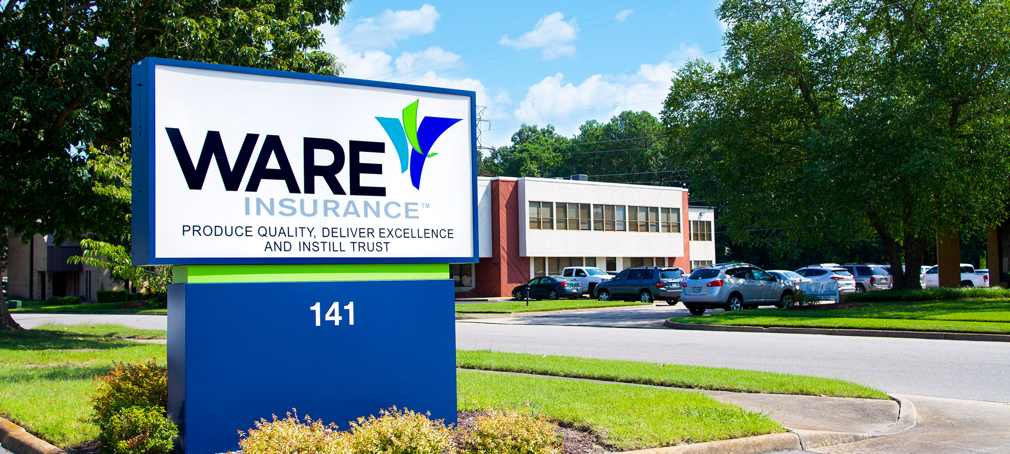 Ware Insurance sign
